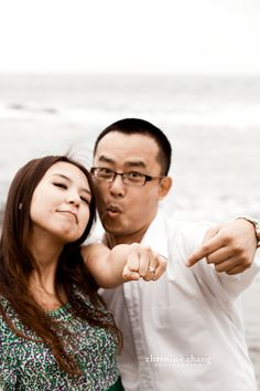 San Diego Engagement Photography: The Cove, La Jolla - Christine Chang Photography Goofy Couples, How To Speak Chinese, Thug Life, La Jolla, Engagement Photography, San Diego, Change, Couple Photos, Face
