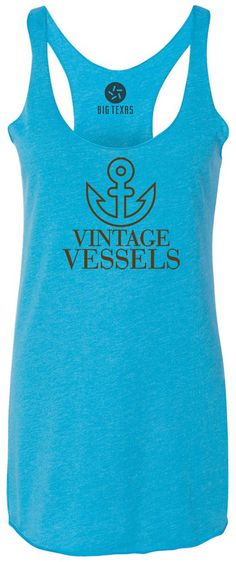 Vintage Vessels Anchor (Brown) Tri-Blend Racerback Tank-Top