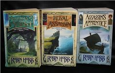 The Assassin Trilogy by Robin Hobb: Great books! Magic, mystery, orphans, dragons and sooo much more!