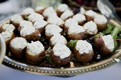 Roasted Potato Cups with Sour Cream and Dill Filling
