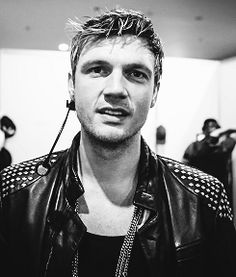 nick carter | Tumblr Wearing His Black-Leathered Outfit.