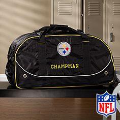 NFL Pittsburgh Steelers Embroidered Duffel Wheelie Bag