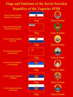 This is pretty self-explanatory, just showing off the Flags and Emblems of the Soviet Socialist Republics within the Soviet Federal Socialist Republic o. Flags/Emblems of the SSR's of the Yugoslav SFSR Yugoslavia Flag, Soviet Union Flag, Life In Russia, Republic Of Macedonia, Philosophy Of Science, Workers Day, Communist Propaganda, History Posters, Vintage Flag