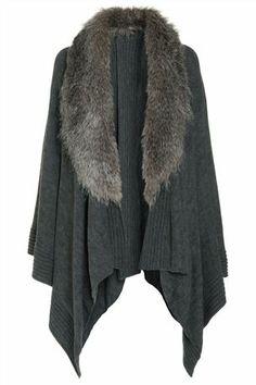 Buy Grey Faux Fur Cape from the Next UK online shop Winter Wear, Autumn Winter Fashion, Mens Fur, Fur Cape, Capes For Women, How To Wear Scarves, Mode Hijab, Business Outfits, Winter Looks