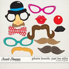 photo booth props - printable