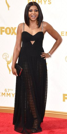 Taraji P. Henson - Emmys 2015 Red Carpet Arrivals - in a custom Alexander Wang dress - from InStyle.com