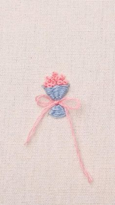 Have you learned how to embroider a mini bouquet? #diy #embroider Hand Embroidery Patterns Flowers, Basic Embroidery Stitches, Hand Embroidery Videos, Embroidery Stitches Tutorial, Simple Embroidery, Hand Embroidery Designs, Embroidery Techniques, Embroidery Kits, Crewel Embroidery