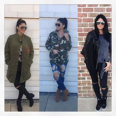 How else to top off an outfit..then with all our different jackets to complete the look with!  Right to Left  Addison Jacket Hunt Me Down Jacket Sophia Jacket