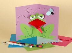 Творчество с детьми. Открытку поп-ап, с квакающей лягушкой внутри. / Удивительное искусство