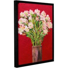 ArtWall Allan Friedlander Sparkling Gallery-wrapped Floater-framed Canvas, Size: 14 x 18, Pink