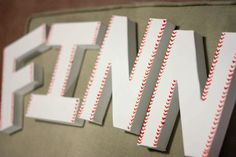 Custom Baseball Decorative Letters 4 Letters by sweetcs on Etsy, $24.00