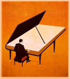 BOOK MAGIC --- Piano by Emiliano Ponzi My 2 favorite things. piano and books Art And Illustration, American Illustration, I Love Books, My Books, Reading Art, World Of Books, Expo, Lectures, Book Images