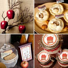 mini apple pies and apple butter favors