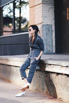 #weworewhat #daniellebernstein #boilersuits #asos #streetstyle #stripes
