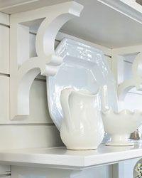 cute pantry detail ideas: can add beadboard and decorative shelf brackets