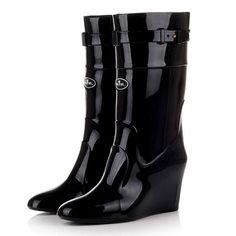 Now selling: Rubber PVC Waterproof Fashion Black Boots Mid-Calf Rain Boots http://periwinklefashion.com/products/rubber-pvc-waterproof-fashion-black-boots-mid-calf-rain-boots-1?utm_campaign=crowdfire&utm_content=crowdfire&utm_medium=social&utm_source=pinterest