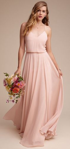 Pink Bridesmaid Dress, Spaghetti Straps Long Bridesmaid Dress, Chiffon Bridesmaid Dress · prom dress · Online Store Powered by Storenvy Bridal Party Dresses, Wedding Bridesmaid Dresses, Bridesmaid Outfit, Blush Bridemaids Dresses, Boho Bridesmaids, Bridal Gowns, Wedding Gowns, Wedding Cakes, Maid Of Honour Dresses