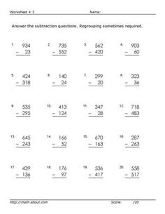 Worksheet # 3