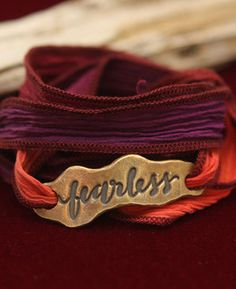Fearless Silk Wrap Bracelet