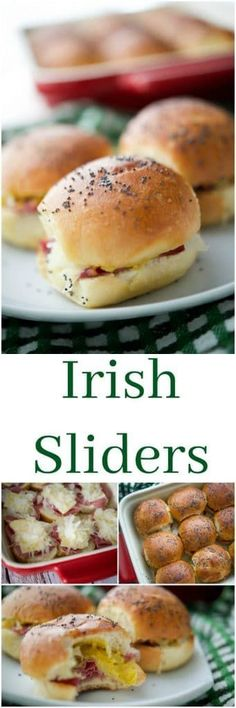 These Irish Sliders made with corned beef, melted Dubliner Irish cheese, sauerkraut and spicy Irish mustard on potato slider rolls are a must have for your next gathering. Best Picture For sandwiches illustration For Your Taste You are looking f Croissant Sandwich, Sandwich Bar, Slider Sandwiches, Sandwich Recipes, Breakfast Sandwiches, Picnic Sandwiches, Appetizer Sandwiches, Corned Beef, Slider Rolls