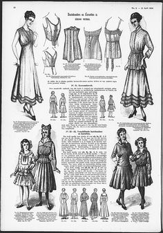 corset-cover style and short brassieres from 1916