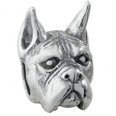 #Boxer -  Bark Beads,  $79.95, 925 Sterling Silver, Compatible with Trollbeads, Pandora, and Chamilia bracelets, Hand-crafted in the USA, Available at ANDREW GALLAGHER JEWELERS, Newark, DE 302-368-3380