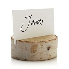Stump Placecard Holder I Crate and Barrel