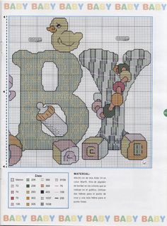 Cross-stitch Baby, part 2..  with the color chart...   Gallery.ru / Фото #60 - Las Labores de Ana Baby 29 - tymannost