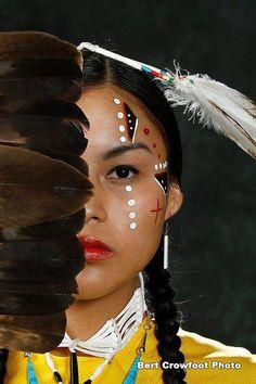 Wow. A beautiful Native American woman.