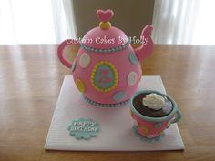 Teapot Cake for Tea Party Birthday