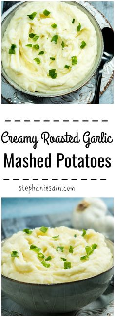 Creamy Roasted Garlic Mashed Potatoes are ultra smooth, rich & buttery. Find out the secret for making perfect mashed potatoes every time. Gluten free & Vegetarian.