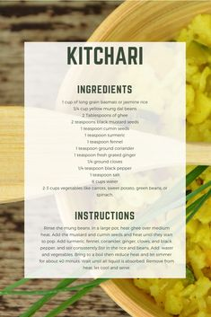 Easy kitchari recipe for an Ayurvedic fall cleanse. Easy kitchari recipe for an Ayurvedic fall cleanse. Ayurveda Vata, Ayurvedic Healing, Ayurvedic Diet, Ayurvedic Recipes, Ayurvedic Medicine, Holistic Medicine, Indian Food Recipes, New Recipes, Healthy Recipes
