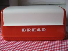 Lustro Ware Red Plastic Bread Box