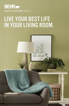 Your living room should be a safe-haven where you can put the day behind you and catch your breath. And with the right paint color, the relaxing room you deserve is just a paint job away. Explore paint colors from BEHR® to find the perfect peaceful shade for your living room. Today Let's Paint™.