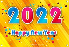 Free Happy New Year 2022 Poster