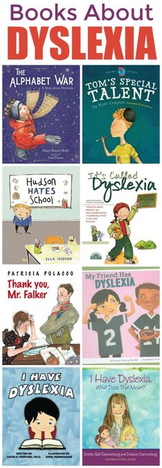 When we found out our son has Dyslexia, one of the first things I did was research Dyslexia Books to read to him - and you can use my list for your child! Dyslexia Books for Kids Dyslexia Activities, Dyslexia Strategies, Dyslexia Teaching, Learning Disabilities, Teaching Reading, Sequencing Activities, Hate School, Special Education, Education Jobs