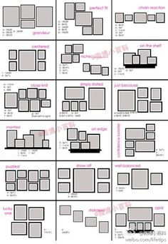 Amazing 78 Layouts For Hanging Photographs And Artworks On Empty Walls Like A Pro |  Picture Frame Layout, Frame Layout And Layouts Design