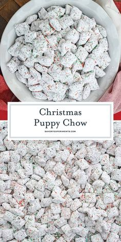 Christmas Puppy Chow transforms a traditional muddy buddy recipe into a festive ., Desserts, Christmas Puppy Chow transforms a traditional muddy buddy recipe into a festive Reindeer Chow mix! The perfect no-bake dessert for any party or event. Christmas Snacks, Christmas Cooking, Holiday Treats, Holiday Recipes, Christmas Parties, Christmas Christmas, Christmas Chocolate, No Bake Christmas Cookies, Christmas Meal Ideas