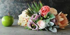 Pastel mix of faux flowers & fruit - Studio 100