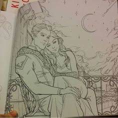 ACOTAR coloring book It finally arrived and its exquisite, beautiful, gorgeous (never ending list of adjectives to follow this list!)