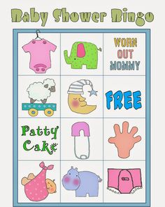 Bingo Baby Shower, Baby Shower Printables, Shower Party, Free Printables, Diy Baby Shower Decorations, Frozen Bebe, Baby Shawer, Blogger Templates, Crepes