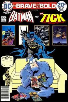 Super-Team Family: The Lost Issues!: Batman and The Tick Batman Comic Art, Marvel Dc Comics, Comic Book Characters, Comic Books Art, Batman Love, Ace Comics, Pulp Fiction Book, Fans, Classic Comics