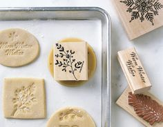 rubber stamps sugar cookies, what a great idea