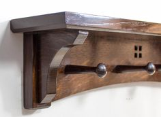 Arts And Crafts 24 Inch Combination Wall Shelf Rack