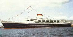 Andria Doria was an Italian Cruise Liner. Launched on the 16 June 1951 in Genoa but sank after a collision on 26 July 1956 with the MS Stockholm. in the Atlantic Ocean. Majesty Of The Sea, Andrea Doria, Shipwreck, Tall Ships, Water Crafts, Titanic, The World's Greatest, Vintage Travel, Sailing