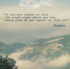 """""""If you are unable to find the truth right where you are, where else do you expect to find it? """" - Zen Master Dogen (Photo by Cinzia Carboni)"""