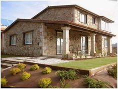 Landscaping Ideas Around Patio Dream Home Design, Home Design Plans, My Dream Home, House Design, Brazil Houses, House On The Rock, Dordogne, Spanish House, Stone Houses