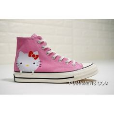 3cc4e9bc4288 Hello Kitty X Converse Chuck Taylor 1970 High 162136C Womens Girls Canvas  Shoes Pink Discount