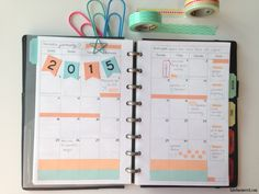 Planner Organization: 2015 planner tour month on two pages by Label Me Merrit