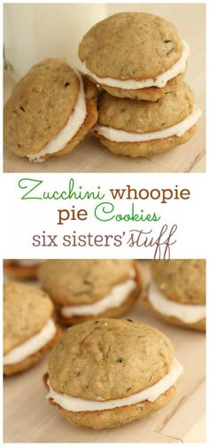 Zucchini Whoopie Pie Cookies on Zuchinni Recipes, Veggie Recipes, Sweet Recipes, Baking Recipes, Cookie Recipes, Pie Recipes, Brownie Cookies, Cookie Pie, Shortbread Cookies